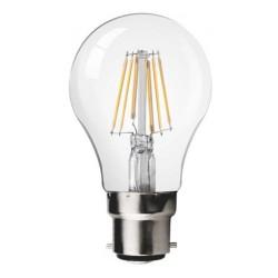 Ampoule LED Filament B22 6W660lm Blanc Chaud 3000K